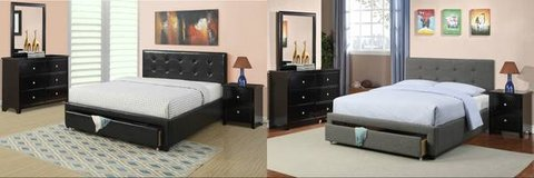 New Black or Charcoal Storage QUEEN or FULL Bed Frame DELIVERY in Oceanside, California