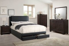 QUEEN BLACK Storage Bed Frame (King/Cali King optional) FREE DELIVERY in Oceanside, California