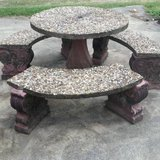 Concrete table and 2 benches in Baytown, Texas