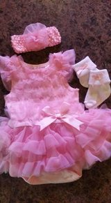 NEW size 3 months tutu dress, socks and hair pretty in Baytown, Texas
