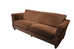Microfiber sofa / couch in new condition in Lockport, Illinois