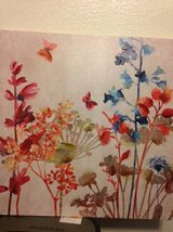 2 floral butterfly acrylic prints 24 x 24 in Roseville, California