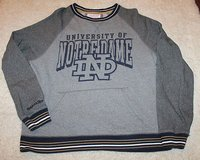 Mitchell & Ness Notre Dame Heather Gray/Blue Crewneck Sweatshirt, XL ~ Excellent in Bolingbrook, Illinois