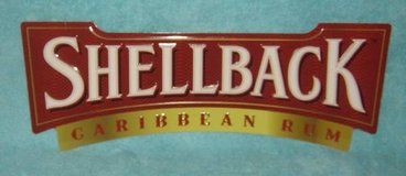 SHELLBACK CARIBBEAN RUM METAL SIGN (RARE) RED in Chicago, Illinois