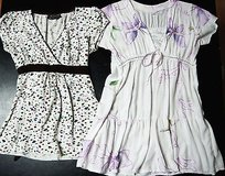 FREE:  Lot of 2 Short-Sleeved Blouses Juniors Small S, Polka Dots and Floral Embroidery in Kingwood, Texas