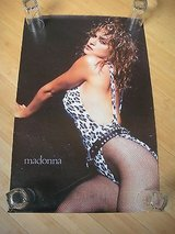 vintage madonna leopard swimsuit poster 36 x 24 out of print, rare!!! great cond in Plainfield, Illinois