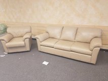 EXCELLENT Condition! Real leather Couch and Chair- Delivery! in Lockport, Illinois