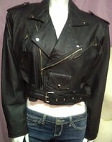 Wilsons Leather Performance Classic Asymmetrical Cycle Jacket Women Size Small in Yucca Valley, California