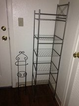 metal shelf and metal stand toilet paper holder in Roseville, California