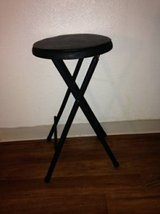 Folding Stool Counter Seat Black Cushioned Padded Chai in Sacramento, California
