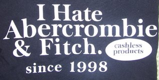 new 2xl i hate abercrombie & fitch since 1998 t-shirt xxl 2x cashless products in Elgin, Illinois