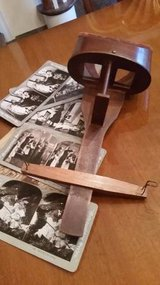 SATURN SCOPE STEREOVIEWER Patent Date 1883 WOODEN STEREOSCOPE in Glendale Heights, Illinois