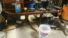 6 ft Cherry Claw Foot Dining Table in DeKalb, Illinois