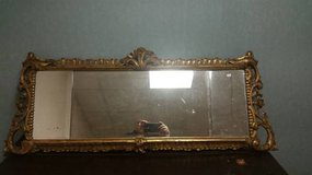 Antique 1800's Ornate Hand Carved Gold Gilt Mirror in DeKalb, Illinois
