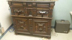 Antique LATE 1700s Hand Carved Hard Wood Formal Buffet in DeKalb, Illinois