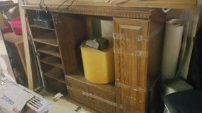 FREE Solid Oak TV Stand/Book Case in DeKalb, Illinois