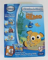 NEW Disney Pixar NEMO V-Tech Create-A-Story Learning 2 Books 1 Game Cartridge in Morris, Illinois