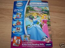 NEW Disney PRINCESS V-Tech Create-A-Story Learning 2 Books 1 Game Cartridge Cinderella & Sleepin... in Morris, Illinois