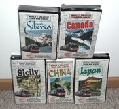 NEW Lot of 5 Worlds Greatest Train Ride Videos Canada Sicily China Siberia Japan in Morris, Illinois
