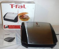 T-fal 4-Burger Curved Grill with Non-Stick Plates ~ tabletop Model #GC430D52 in Joliet, Illinois
