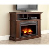 Whalen Electric Fireplace TV Stand Console (Rustic Brown) - NEW! in Joliet, Illinois