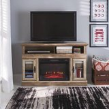 Crossmill Electric Fireplace TV Stand Console (Weathered) - NEW! in Aurora, Illinois