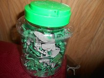Military Combat Toy Plastic Soldiers - 71pcs  plus container in Bellaire, Texas