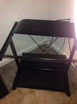 Printer Cart black Metal Frame Glass Table Top Office Furniture in Roseville, California