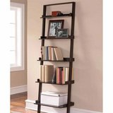 Mainstays Leaning Ladder 5-shelf Bookcase (Espresso) - NEW! in Chicago, Illinois