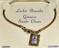 Girls Cloisonne Locket Bracelet   Floral in Batavia, Illinois