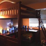 LUXURY LOFT BED WITH DESK, VIPE BOARD, AND CORK BOARD BY WHALEN FURNIT in Camp Lejeune, North Carolina