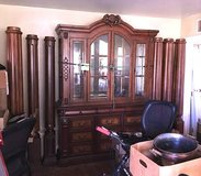 China cabinet, HUTCH, drawers, glass, wood, teak, maple, oak in Camp Lejeune, North Carolina