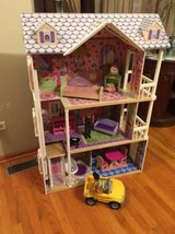 Kidkraft doll house with accessories in Bolingbrook, Illinois