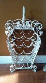 VINTAGE WROUGHT IRON WINE RACK in Bolingbrook, Illinois