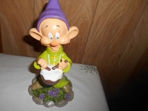 "New 9"" Disney Snow White  Dwarf Garden Gnome- DOPEY (playing drums) in Bellaire, Texas"