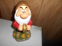 "New 9"" Disney Snow White  Dwarf Garden Gnome- GRUMPY (playing cymbals) in Bellaire, Texas"