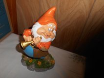 "New 9"" Disney Snow White  Dwarf Garden Gnome- HAPPY (playing horn) in Bellaire, Texas"