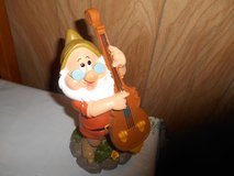 "New 9"" Disney Snow White  Dwarf Garden Gnome- DOC (playing cello) in Bellaire, Texas"