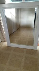 A heavy white very nice framed wall mirror in Temecula, California