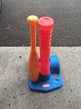 Little Tykes t-ball holder and bat in Pearl Harbor, Hawaii