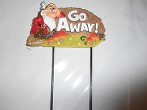 "New Disney Snow White Dwarf Garden Stake: GRUMPY 5 1/2"" wide x 7"" in Bellaire, Texas"