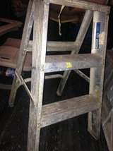 2 small metal folding step ladder aluminum industrial decor plant stand in Sacramento, California