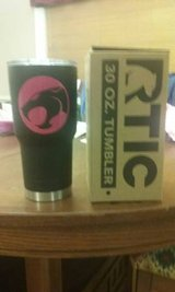 Black 30oz Rtic tumbler with Thundercats Decal in Perry, Georgia