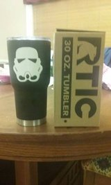 Black 30oz Rtic tumbler w/ Stormtrooper Decal in Perry, Georgia