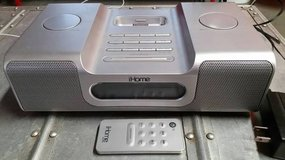 iHome iH8 iPod Clock Radio w/ Remote - Silver 30-pin Dock - AM/FM Radi in Joliet, Illinois