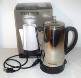 West Bend 54149 12-Cup Automatic Percolator Stainless Coffee Maker Pot in Lockport, Illinois
