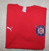 Vintage Chicago Fire Soccer 2005 Playoffs Red Alert T-Shirt, Gildan, Large in Glendale Heights, Illinois