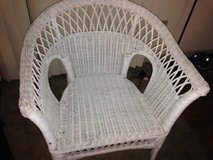 White Wicker Chair in Vacaville, California