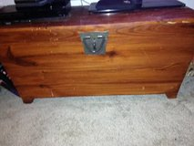 Hope Chest Storage Trunk Wood Bedroom Blanket Coffee Table Large in Beale AFB, California