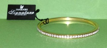 Swarovski  Gold Plated  Clear Crystals Bangle Bracelet in Batavia, Illinois